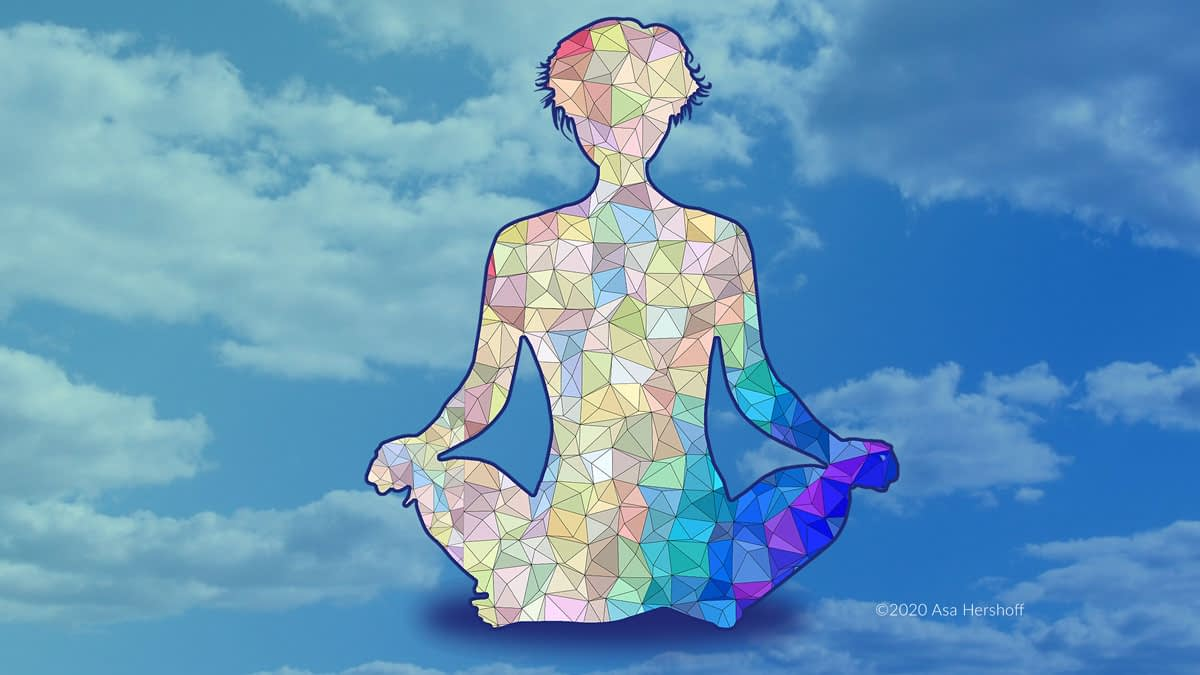 Meditator made of triangles