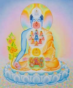 Buddha with elemental forces