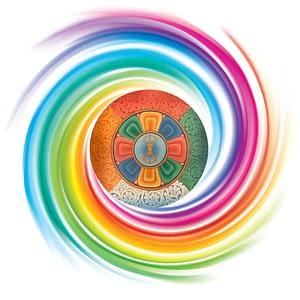 5 Element Spiral Mandala